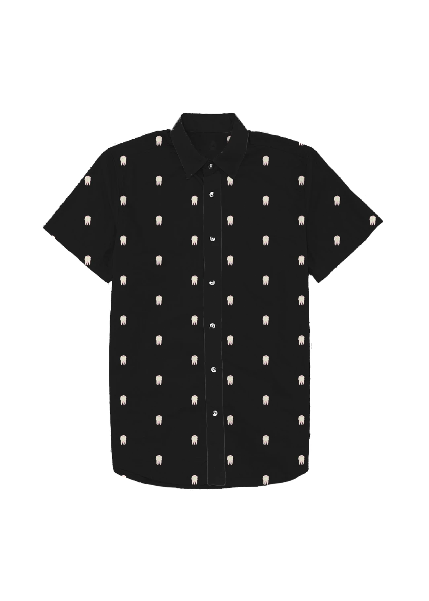 toothy dad shirt in black