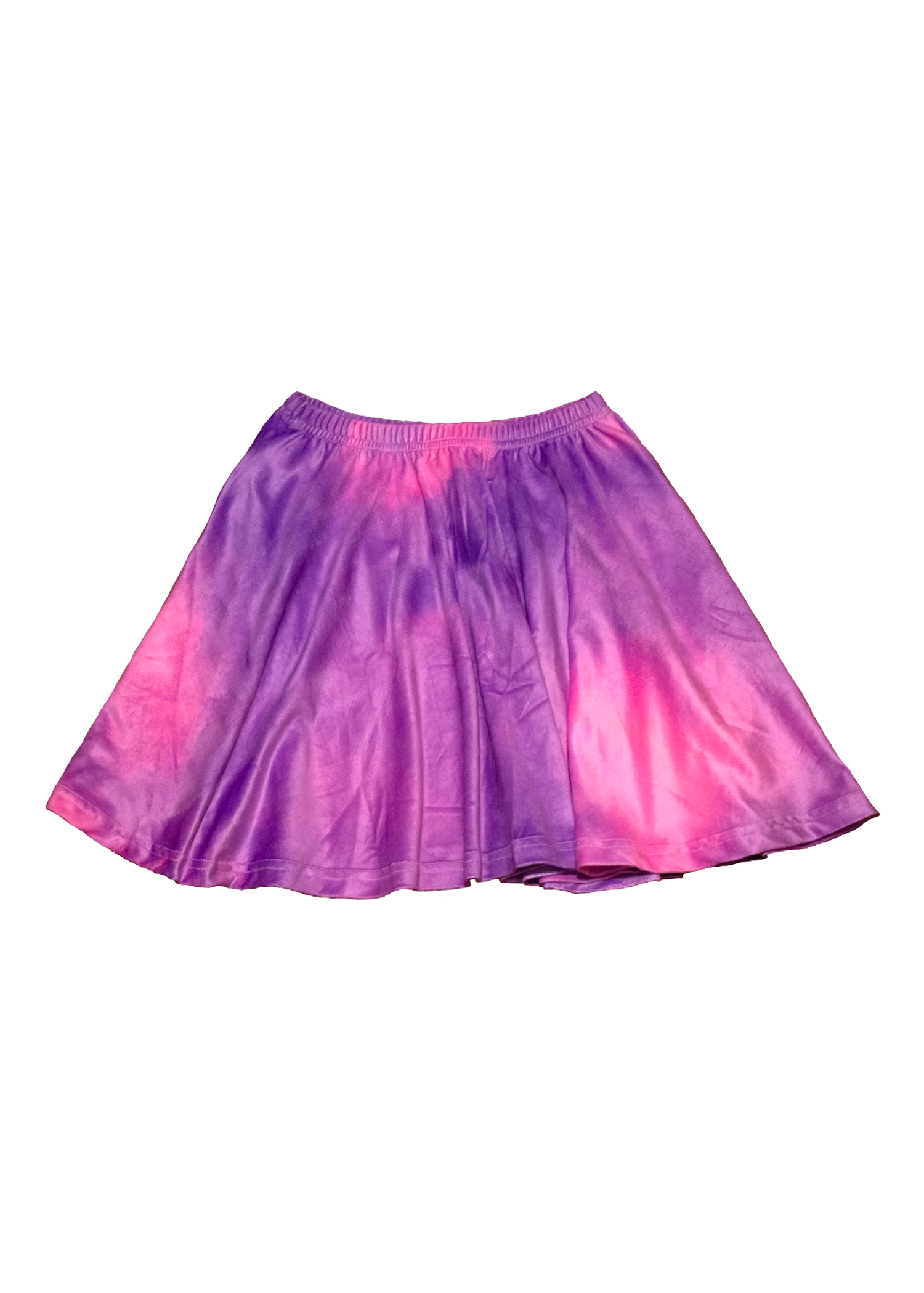 Velvet Tie Dye Skirt in Mood