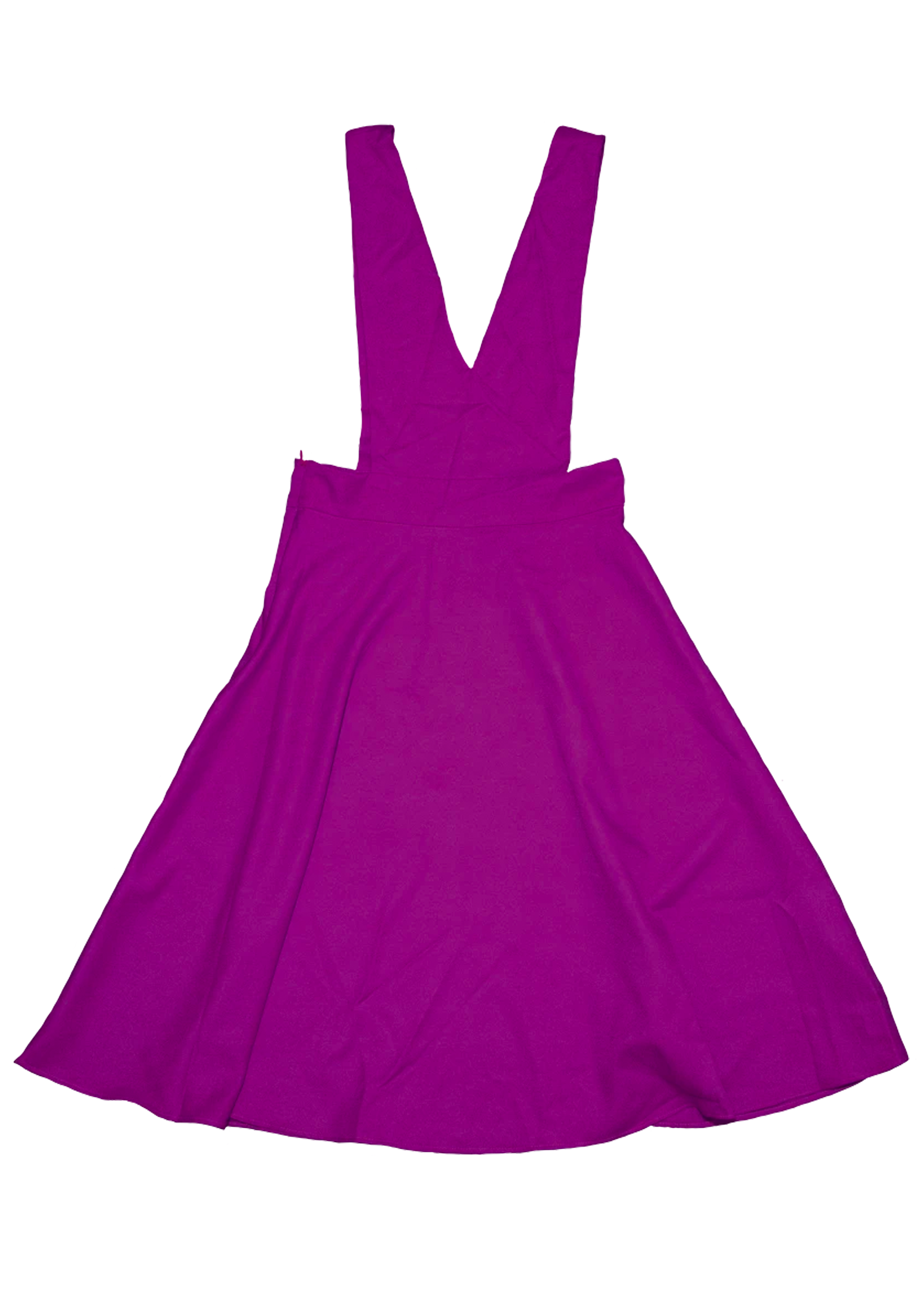 V-Cut Pinafore Skirt in Purple
