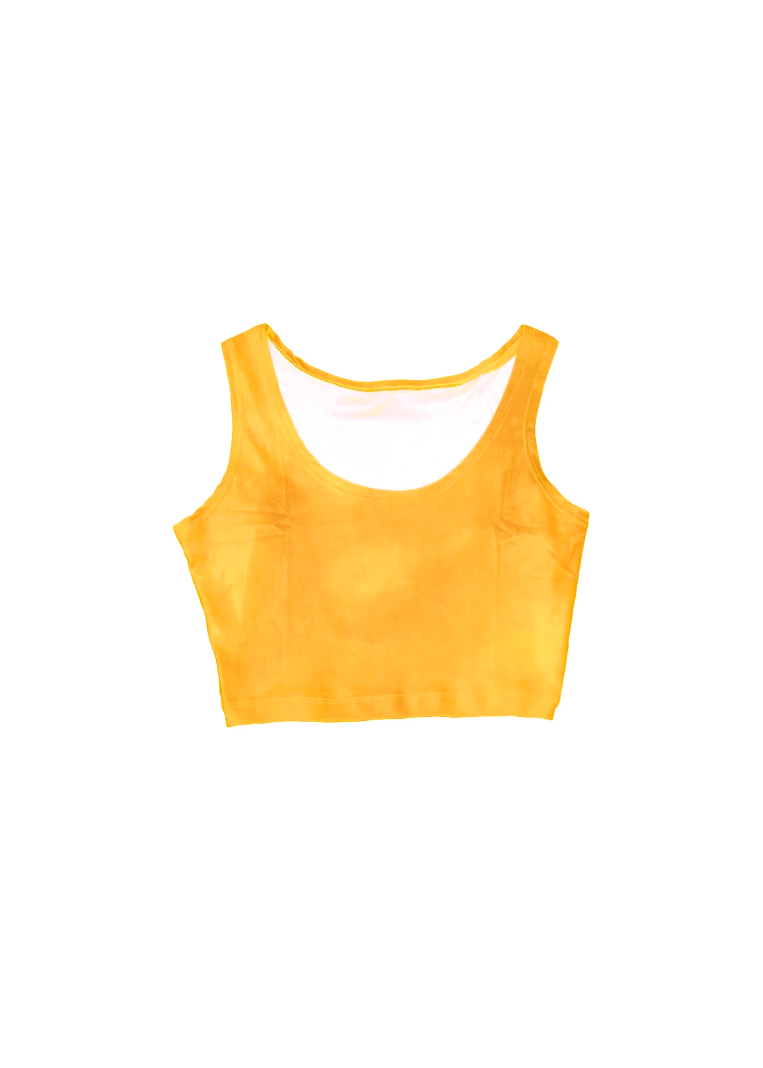 velvet crop top in mango