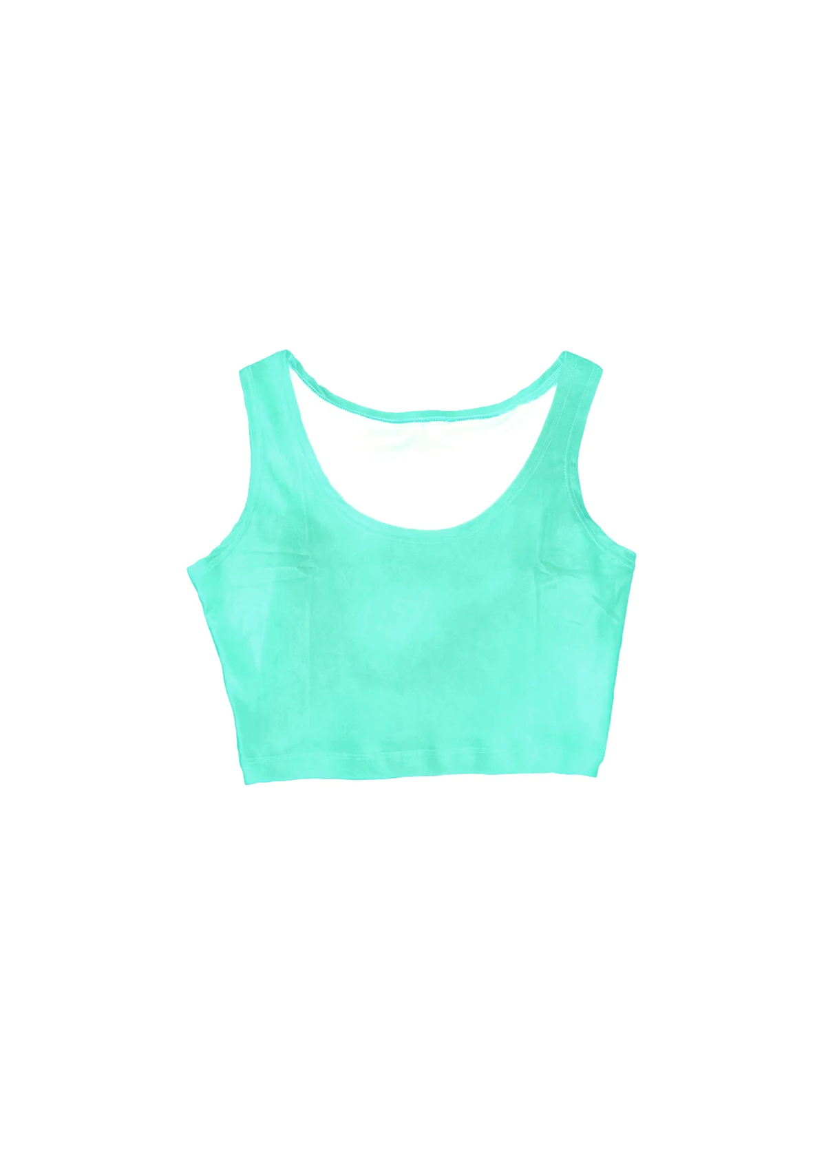 velvet crop top in mint