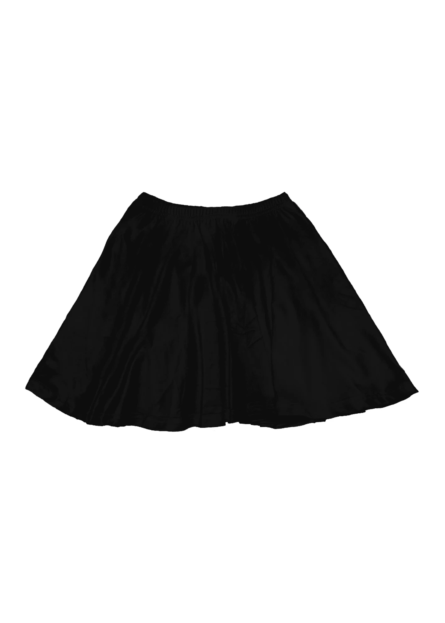 velvet skater skirt in black