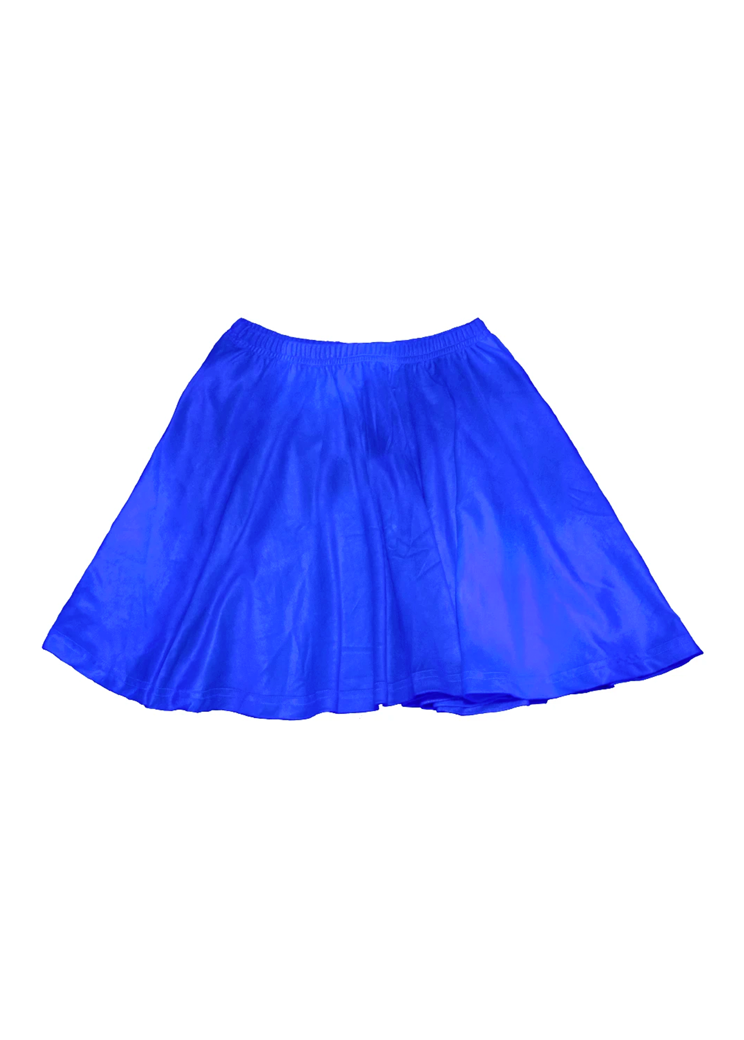 velvet skater skirt in bluescreen blue