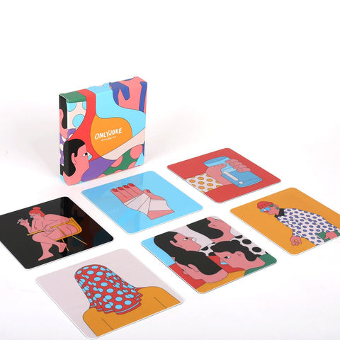 Set de 6 Posavasos Printed Mix ONLY JOKE- Depto51