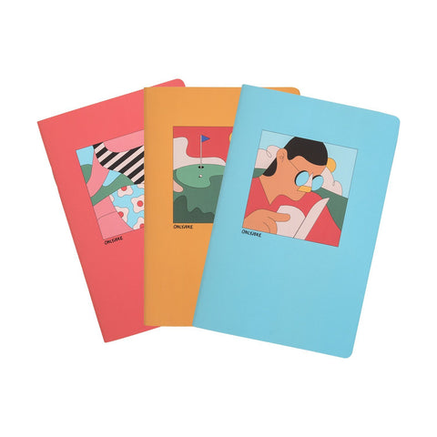 Pack de 3 Libretas Chicas Ilustradas ONLY JOKE- Depto51