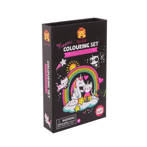 Set para Colorear Fosforescente Unicornios y Amigos TIGER TRIBE- Depto51