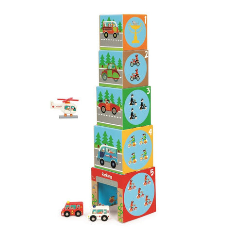 Set de 5 Cubos apilables Garage I SCRATCH-EUROPE