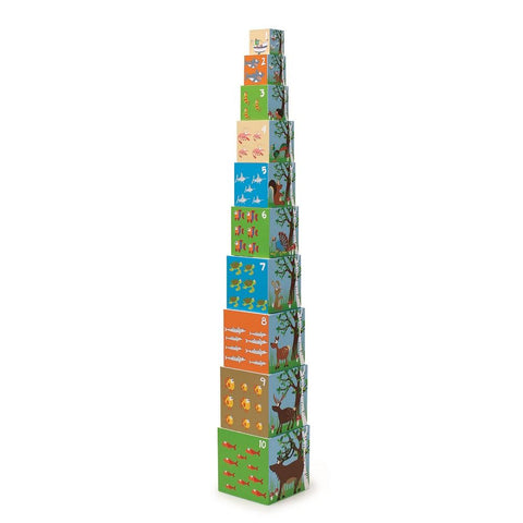 Set de 10 Cubos apilables Animales I SCRATCH-EUROPE
