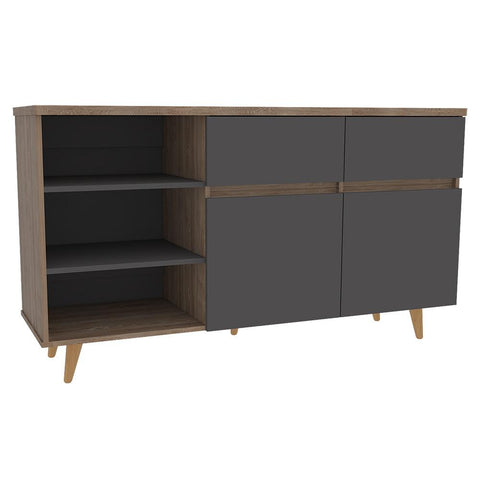 Rack Salem Miel Gris TUHOME- Depto51