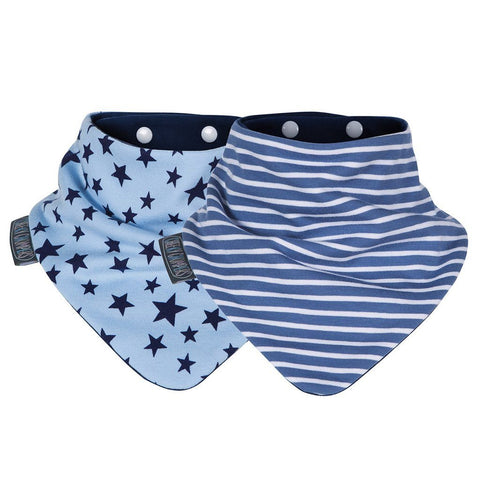 Set de 2 Baberos Neckerbibs Blue Stars & Stripes CHEEKY CHOMPERS- Depto51