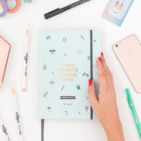 Agenda Bullet Atemporal - Planes, garabatos y muchas ideas Mr. Wonderful AGENDAS MR.WONDERFUL