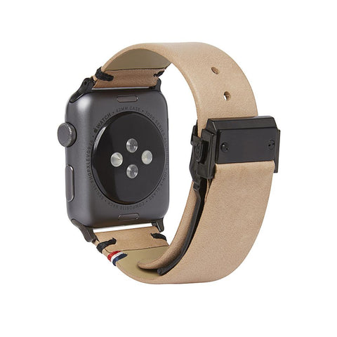 Correa de Cuero Apple Watch 42 mm Café/Arena Decoded I DECODED