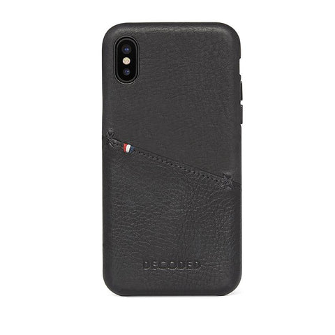 Funda de Cuero Snap-On iPhone X Negra Decoded I DECODED