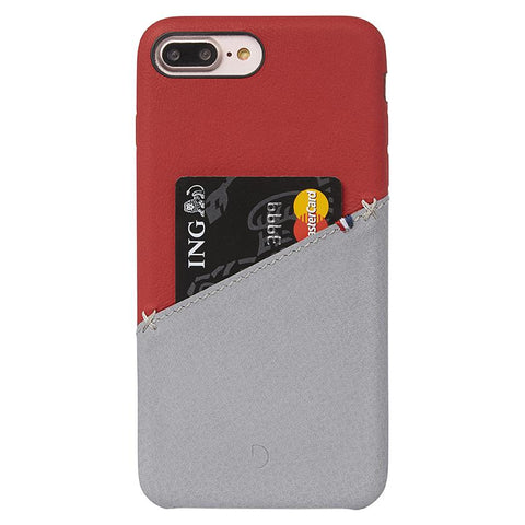 Funda de Cuero Snap-On iPhone 7 Plus/8 Plus Roja/Gris Decoded FUNDAS IPHONE DECODED