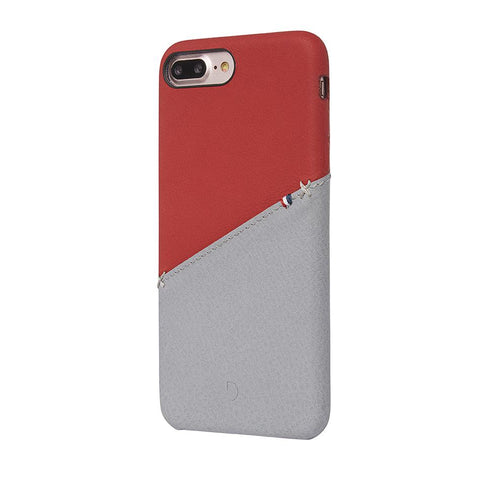 Funda de Cuero Snap-On iPhone 7 Plus/8 Plus Roja/Gris Decoded I DECODED