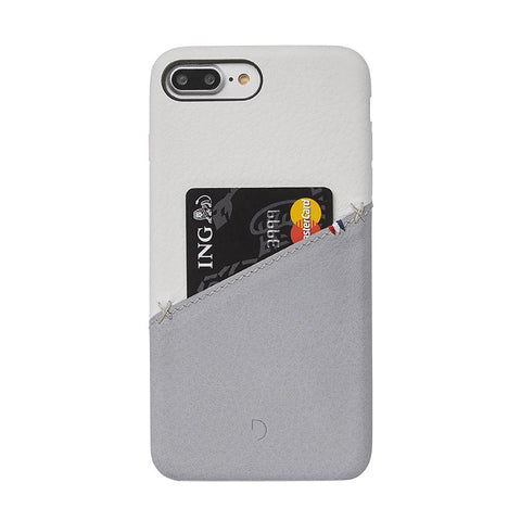 Funda de Cuero Snap-On iPhone 7 Plus/8 Plus Plateada/Gris Decoded I DECODED