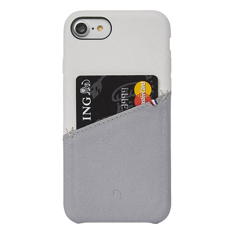 Funda de Cuero Snap-On iPhone 7/8 Plateada/Gris Decoded I DECODED