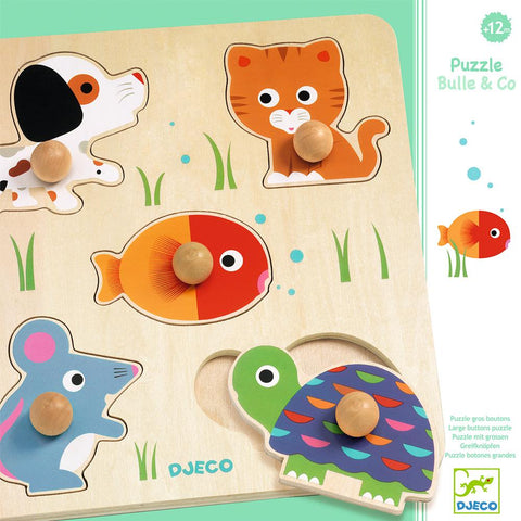 Puzzle MaDera Boton Bulle y Co