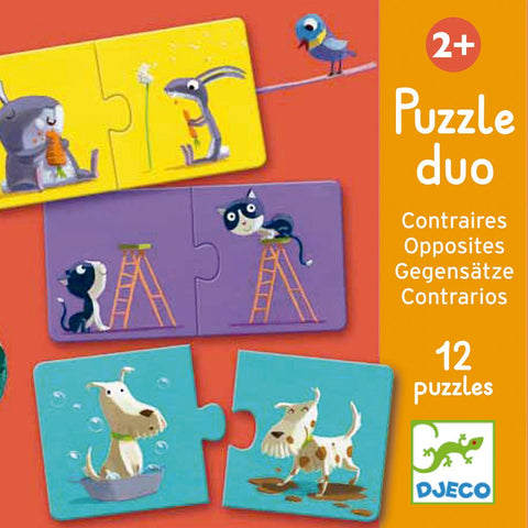 Puzzle Educativo Opuestos