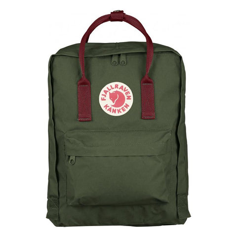 Mochila Kanken Classic Forest Green-Ox Red