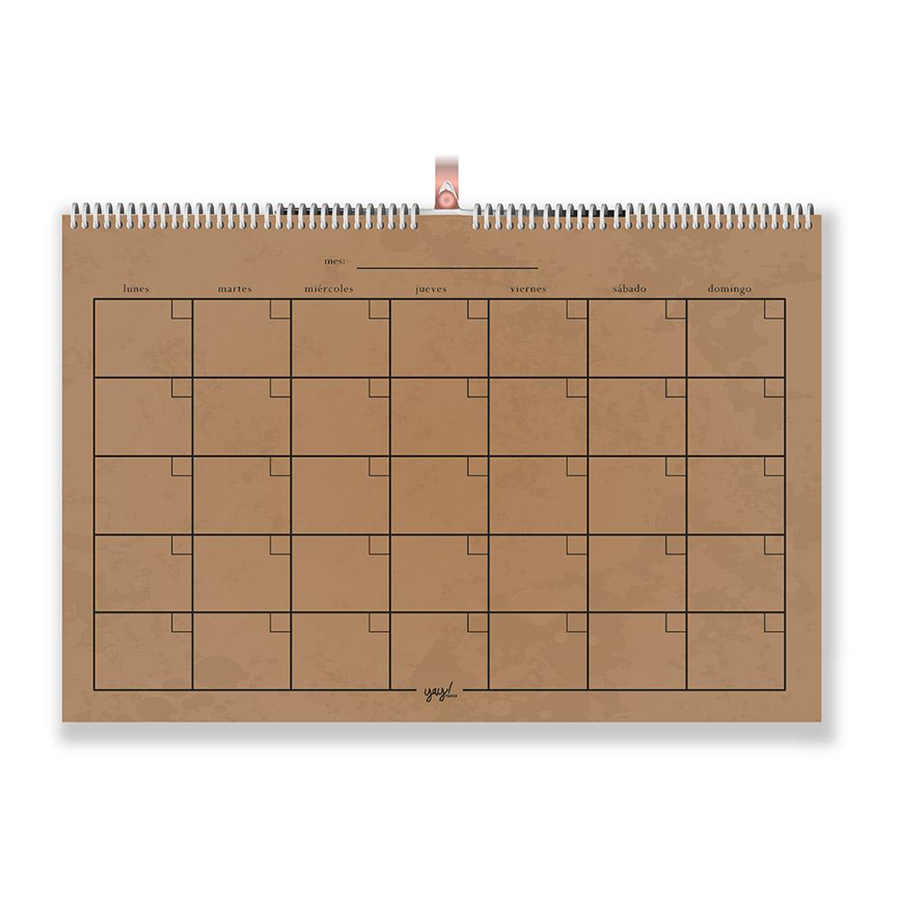 Calendario Kraft YAY! PAPER- Depto51