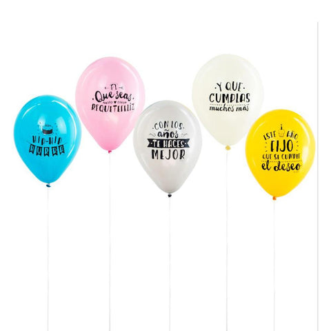 Set de 10 Globos para cumpleaños Mr. Wonderful I MR.WONDERFUL