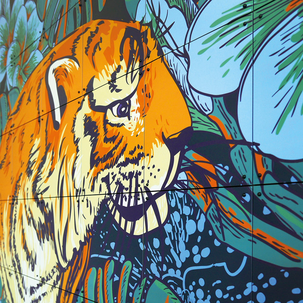Mural Doble Cara Tiger jungle & Toucan family IXXI- Depto51