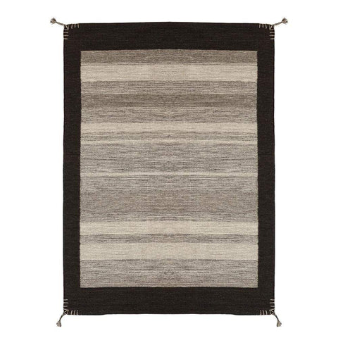 Alfombra Kelim Tribal Natural Grey
