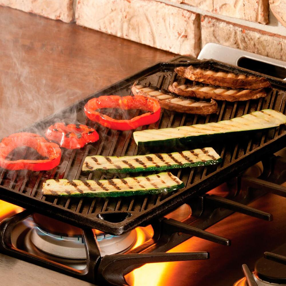 Grill Reversible Hierro Fundido 42,55 cm x 24,13 cm LODGE- Depto51