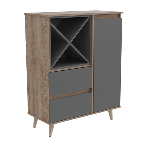 Bar Salem Miel Gris MUEBLE BAR TUHOME