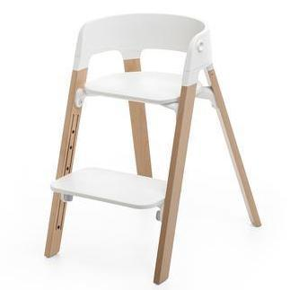 Pack Silla Stokke Steps Blanco/Roble Natural + Baby Set