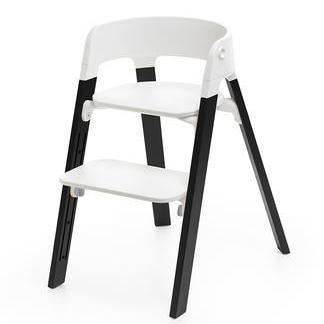 Pack Silla Stokke Steps Blanco/Roble Negro + Baby Set