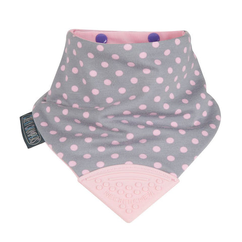 Babero Reversible con Mordedor Neckerchew Polka Dot CHEEKY CHOMPERS- Depto51