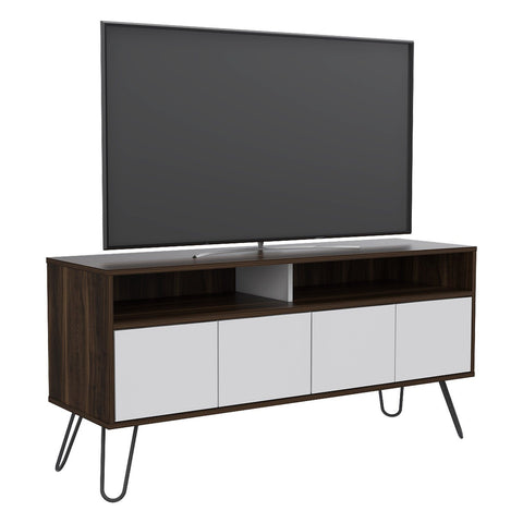 Rack TV Vassel Habano Blanco TUHOME- Depto51