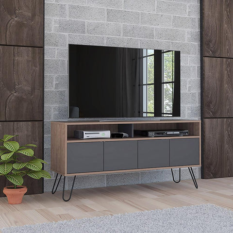 Rack TV Vassel Miel Gris TUHOME- Depto51