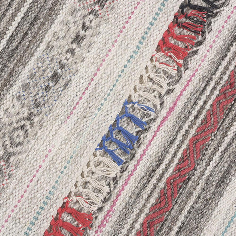 Alfombra Kelim Tribal Vintage Natural Grey Multicolor III