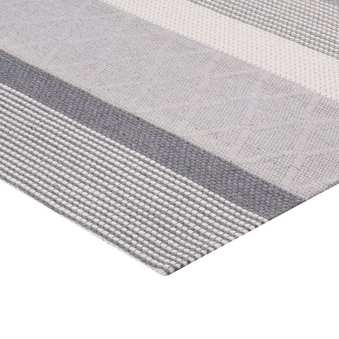 Alfombra Handwoven Jacquard Modern Silver Grey