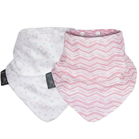 Set de 2 Baberos Neckerbib Rosy Days & Hippo