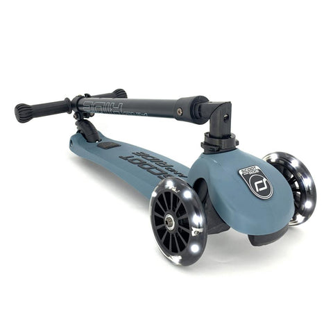Scooter Highwaykick 3 Acero LED SCOOTERS NIÑOS SCOOT AND RIDE