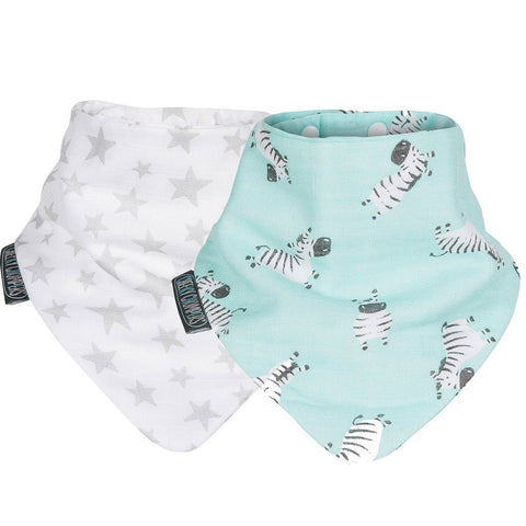 Set de 2 Baberos Neckerbib Stars & Zebra CHEEKY CHOMPERS- Depto51