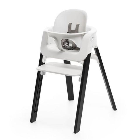 Pack Silla Stokke Steps Blanco/Roble Negro + Baby Set - STOKKE