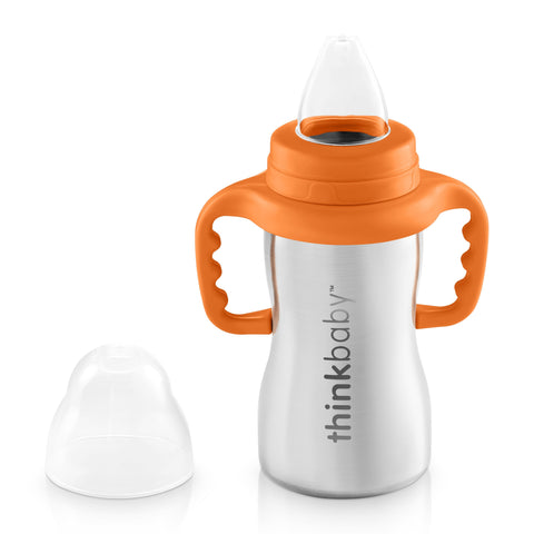Mamadera Sippy of Steel Naranja I THINKBABY