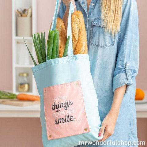 Tote bag plegable - Do small things with an xl smile Bolsos Totebag MR.WONDERFUL