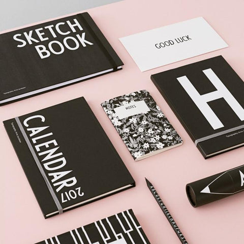 Libreta Sketch Book Design Letters