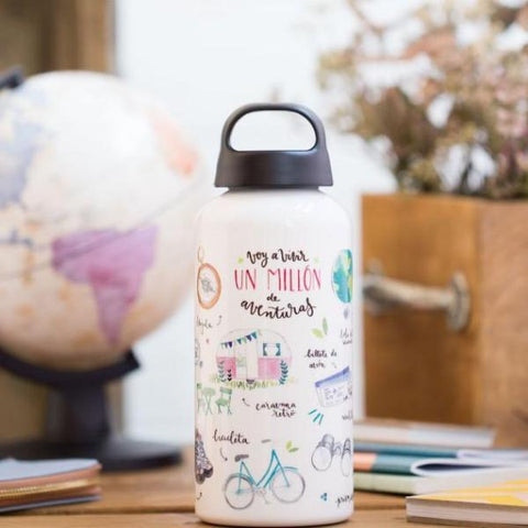 Botella de aluminio Lovely Streets - Aventuras Mr. Wonderful