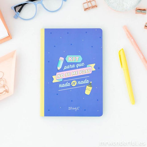 Libreta de stickers y notas adhesivas para que no se te pase nada - MR.WONDERFUL-depto-51.myshopify.com
