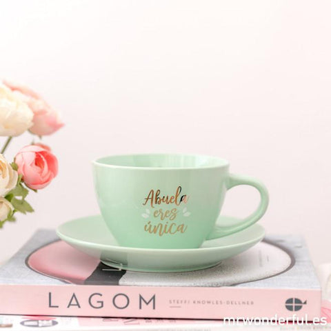 Taza y plato - Abuela eres única Mr. Wonderful