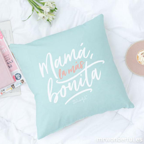Funda de cojín - Mamá, la más bonita Mr. Wonderful