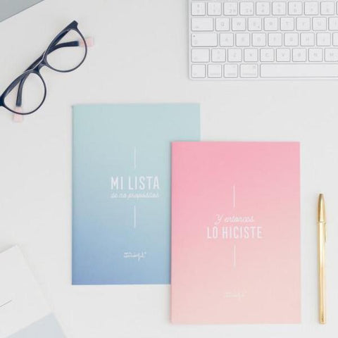 Set de 2 Libretas llenas de inspiración Mr. Wonderful