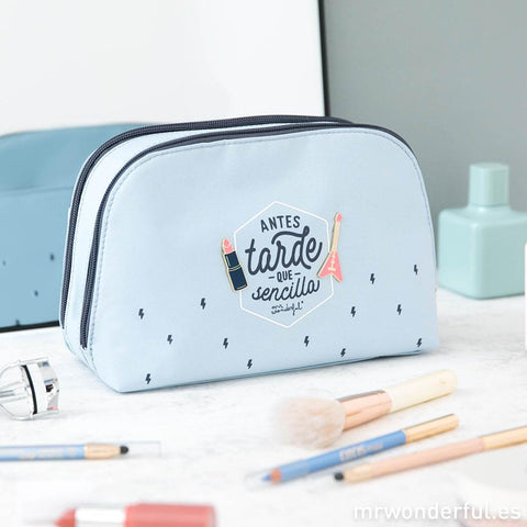 Neceser - Antes tarde que sencilla Mr. Wonderful - MR.WONDERFUL-depto-51.myshopify.com